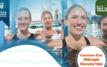 Kadınlara özel suda cimnastik