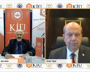 """Yazarımız Ata Atun KKTC Cumhurbaşkanı Ersin Tatar ile görüştü! Cumhurbaşkanı Tatar: """"Türkiye'nin güçlü duruşu bizi de güçlendirdi"""""""