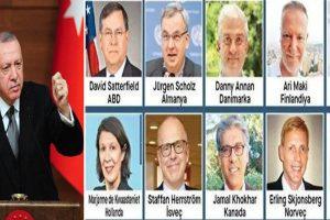 Erdoğan 10 büyükelçinin 'istenmeyen adam' ilan edilmesi için talimat verdi