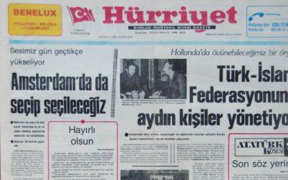 İbrahim Görmez, Mehmet Zeki Gül, Serdar Zeki Çakır, İsmet Biçer, Erdoğan Yüce ve İlhan Karaçay, Hollanda Türkleri'nin geçmişini ve geleceğini konuştular